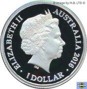 1 Dollar - Elizabeth II (4th Portrait - Year of the Monkey - Silver Proof) -  obverse
