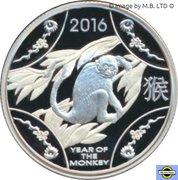 1 Dollar - Elizabeth II (4th Portrait - Year of the Monkey - Silver Proof) -  reverse