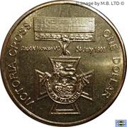 1 Dollar - Elizabeth II (4th Portrait - Australia's First Victoria Cross) -  reverse