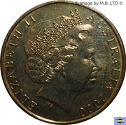 1 Dollar - Elizabeth II (4th Portrait - Olymphilex Exhibition) -  obverse