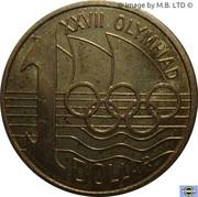 1 Dollar - Elizabeth II (4th Portrait - Olymphilex Exhibition) -  reverse