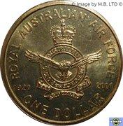 1 Dollar - Elizabeth II (4th Portrait - Airforce Anniversary) -  reverse