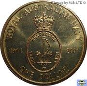 1 Dollar - Elizabeth II (4th Portrait - Navy Anniversary) -  reverse