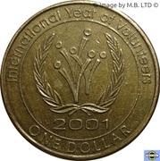 1 Dollar - Elizabeth II (4th Portrait - Volunteers) – reverse