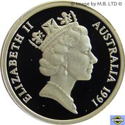 2 Dollars - Elizabeth II (3rd portrait - Masterpieces in Silver Proof) -  obverse