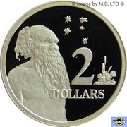 2 Dollars - Elizabeth II (3rd portrait) (Masterpieces in Silver) -  reverse