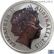 1 Dollar - Elizabeth II (4th Portrait - AFL Custodians Of The Game - Silver Proof) -  obverse