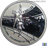 1 Dollar - Elizabeth II (4th Portrait - AFL Custodians Of The Game - Silver Proof) -  reverse