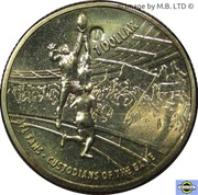 1 Dollar - Elizabeth II (4th Portrait - AFL Custodians Of The Game) -  reverse