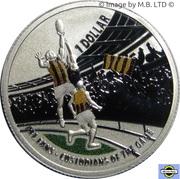 1 Dollar - Elizabeth II (4th Portrait - AFL Custodians Of The Game - Colourised Silver Proof) -  reverse