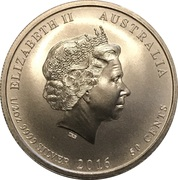 50 Cents - Elizabeth II (4th Portrait - Victory in the Pacific) -  obverse