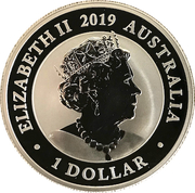 1 Dollar - Elizabeth II (6th Portrait - The Australian Silver Swan) -  obverse