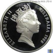 5 Dollars - Elizabeth II (3rd Portrait - Masterpieces in Silver - Parliament House) -  obverse