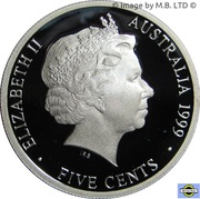 5 Cents - Elizabeth II (4th Portrait - Masterpieces in Silver - 1939  ½penny) – obverse