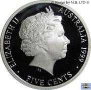 5 Cents - Elizabeth II (Masterpieces in Silver - 1939  ½penny) -  obverse