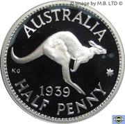 5 Cents - Elizabeth II (Masterpieces in Silver - 1939  ½penny) -  reverse