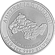 1 Dollar - Elizabeth II (6th Portrait - Australian Nugget) -  reverse