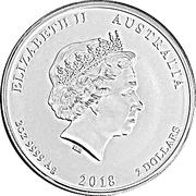 2 Dollars - Elizabeth II (Dove) -  obverse
