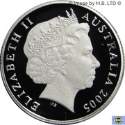 1 Dollar - Elizabeth II (4th Portrait - Peace - End of World War II - Silver Proof) -  obverse