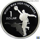 1 Dollar - Elizabeth II (4th Portrait - Peace - End of World War II - Silver Proof) – reverse