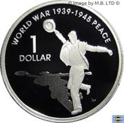 1 Dollar - Elizabeth II (4th Portrait - Peace - End of World War II - Silver Proof) -  reverse