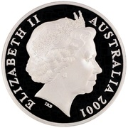 5 Dollars - Elizabeth II (4th Portrait - Kingston, Barton & Deakin - Masterpieces in Silver) -  obverse