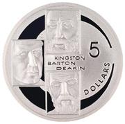 5 Dollars - Elizabeth II (Kingston, Barton & Deakin) -  reverse