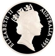 5 Dollars - Elizabeth II (3rd Portrait - Ox-Drawn Wagon - Masterpieces in Silver) -  obverse