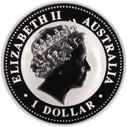1 Dollar - Elizabeth II (Australia-Japan Year of Exchange) -  obverse