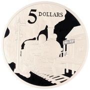 5 Dollars - Elizabeth II (Steam Locomotive) -  reverse