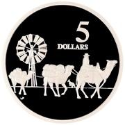 5 Dollars - Elizabeth II (Camel Pack Train) -  reverse