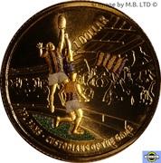 1 Dollar - Elizabeth II (4th Portrait - AFL Custodians Of The Game- Colourised) -  reverse