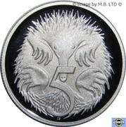 5 Cents - Elizabeth II (4th portrait; Silver Proof) -  reverse