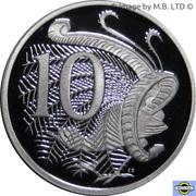 10 Cents - Elizabeth II (4th Portrait - Fine Silver Proof) -  reverse