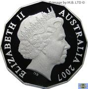 50 Cents - Elizabeth II (4th Portrait - Silver Proof) -  obverse