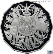 50 Cents - Elizabeth II (4th Portrait - Silver Proof) -  reverse