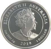 1 Dollar - Elizabeth II (6th Portrait - Queen Victoria 200th Anniversary) -  obverse