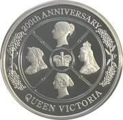 1 Dollar - Elizabeth II (6th Portrait - Queen Victoria 200th Anniversary) -  reverse