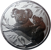 2 Dollars - Elizabeth II (Koala - Mother & Baby) -  reverse