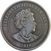 2 Dollars - Elizabeth II (Queen Victoria 200th Anniversary) -  obverse