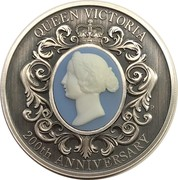 2 Dollars - Elizabeth II (6th Portrait - Queen Victoria 200th Anniversary) -  reverse