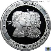 1 Dollar - Elizabeth II (4th Portrait - Australian Coinage - Silver Proof) -  reverse