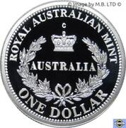 1 Dollar - Elizabeth II (Australia's First Mints) Silver Proof -  reverse