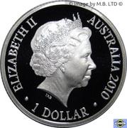 1 Dollar - Elizabeth II (4th Portrait - Year of the Tiger - Silver Proof) -  obverse