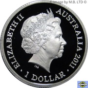 1 Dollar - Elizabeth II (4th Portrait - Year of the Rabbit - Silver Proof) -  obverse