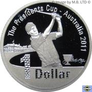 1 Dollar - Elizabeth II (4th Portrait - Presidents Cup - Silver Proof) -  reverse