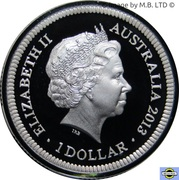 1 Dollar - Elizabeth II (4th Portrait - Bicentenary of the Holey Dollar & Dump - Silver Proof) -  obverse