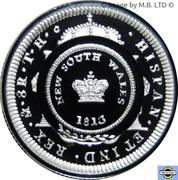 1 Dollar - Elizabeth II (Bicentenary of the Holey Dollar & Dump) Silver Proof -  reverse