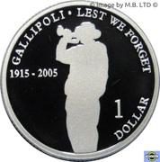 1 Dollar - Elizabeth II (4th Portrait - Gallipoli - Silver Proof) -  reverse