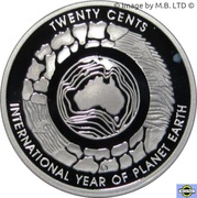 20 Cents - Elizabeth II (International Year of Planet Earth; Silver Proof) – reverse